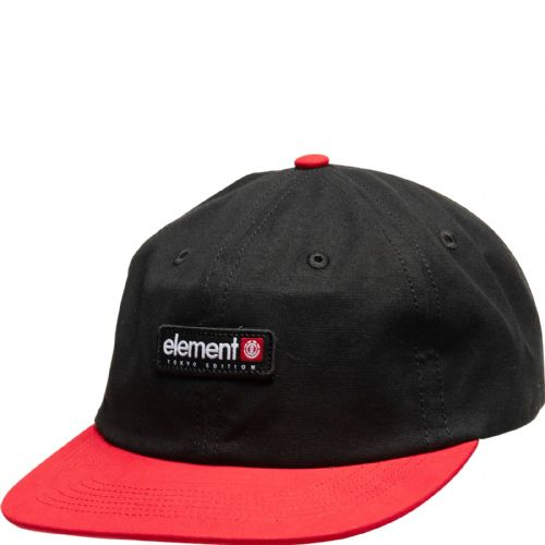 ELEMENT MENS BASEBALL CAP.NEW TOKYO POOL DECONSTRUCTED BLACK RED COTTON HAT S20